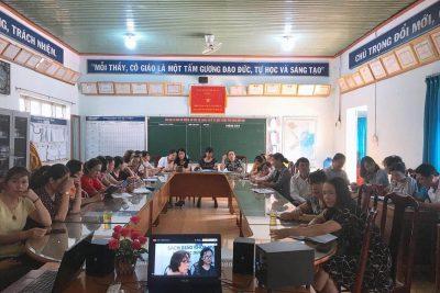 Tập huấn trực tuyến sử dụng Sách giáo khoa lớp 1 chương trình GDPT 2018. Cụm số 2 _Krông Pắc tại trường tiểu học Ngô Quyền (22/7/2020- 28/7/2020)
